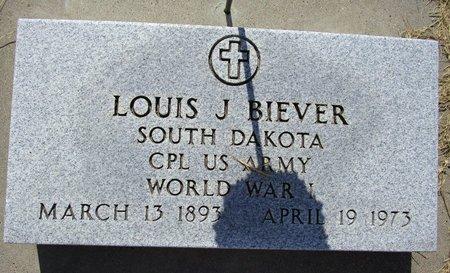 BIEVER, LOUIS J - Beadle County, South Dakota   LOUIS J BIEVER - South Dakota Gravestone Photos