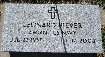 BIEVER, LEONARD - Beadle County, South Dakota   LEONARD BIEVER - South Dakota Gravestone Photos