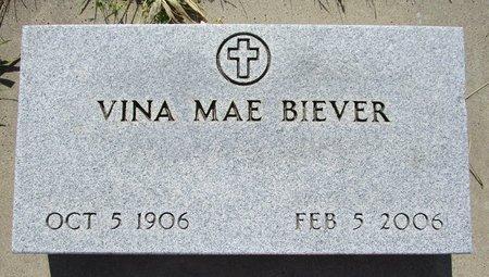 BIEVER, VINA MAE - Beadle County, South Dakota   VINA MAE BIEVER - South Dakota Gravestone Photos