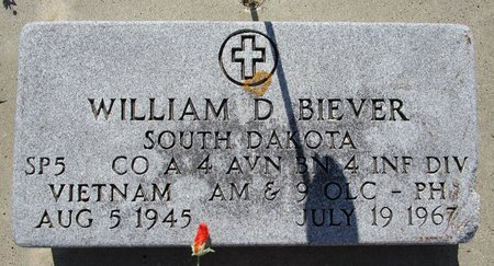 BIEVER, WILLIAM D - Beadle County, South Dakota   WILLIAM D BIEVER - South Dakota Gravestone Photos