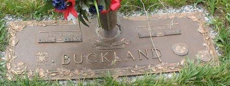 BUCKLAND, WILMA R. - Beadle County, South Dakota | WILMA R. BUCKLAND - South Dakota Gravestone Photos