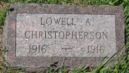 CHRISTOPHERSON, LOWELL A. - Beadle County, South Dakota | LOWELL A. CHRISTOPHERSON - South Dakota Gravestone Photos