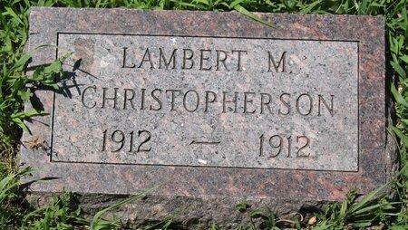 CHRISTOPHERSON, LAMBERT M. - Beadle County, South Dakota | LAMBERT M. CHRISTOPHERSON - South Dakota Gravestone Photos