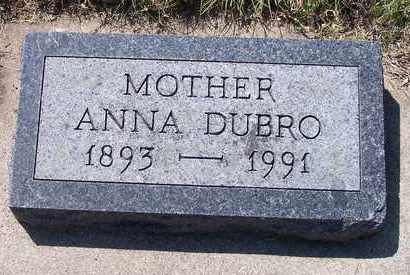 LORENZ DUBRO, ANNA - Beadle County, South Dakota   ANNA LORENZ DUBRO - South Dakota Gravestone Photos