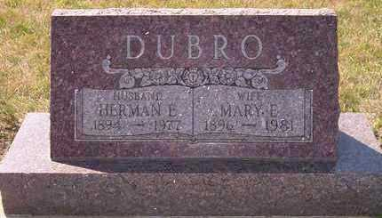 DUBRO, HERMAN E - Beadle County, South Dakota | HERMAN E DUBRO - South Dakota Gravestone Photos