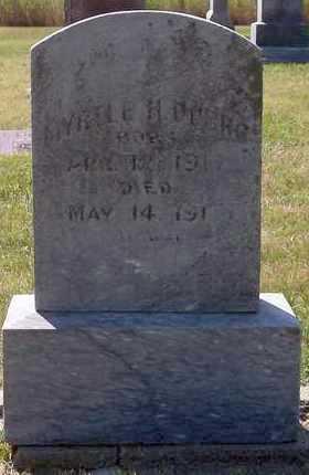 DUBRO, MYRTLE H - Beadle County, South Dakota   MYRTLE H DUBRO - South Dakota Gravestone Photos