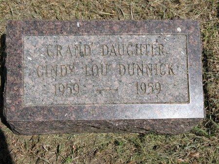 DUNNICK, CINDY LOU - Beadle County, South Dakota   CINDY LOU DUNNICK - South Dakota Gravestone Photos