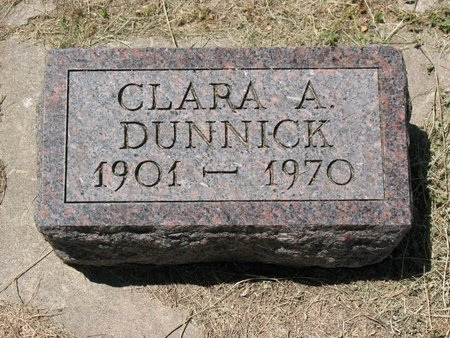 DUNNICK, CLARA AUGUSTA - Beadle County, South Dakota | CLARA AUGUSTA DUNNICK - South Dakota Gravestone Photos