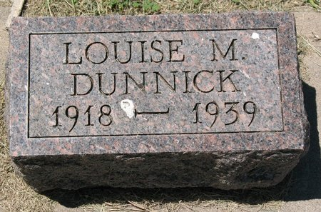 RENNER DUNNICK, LOUISE M. - Beadle County, South Dakota | LOUISE M. RENNER DUNNICK - South Dakota Gravestone Photos