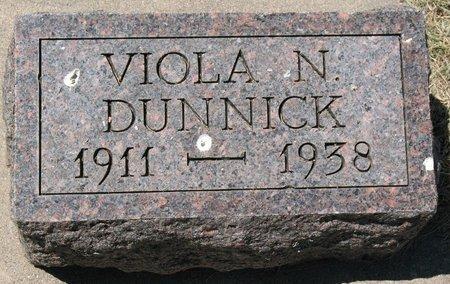 DUNNICK, VIOLA N. - Beadle County, South Dakota   VIOLA N. DUNNICK - South Dakota Gravestone Photos