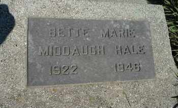 MIDDAUGH HALE, BETTE MARIE - Beadle County, South Dakota | BETTE MARIE MIDDAUGH HALE - South Dakota Gravestone Photos