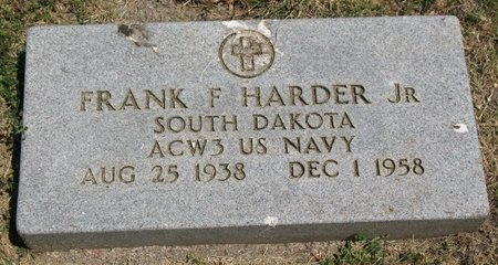 HARDER, FRANK FREDERICK - Beadle County, South Dakota | FRANK FREDERICK HARDER - South Dakota Gravestone Photos