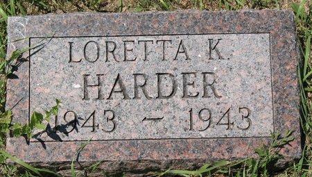 HARDER, LORETTA K. - Beadle County, South Dakota | LORETTA K. HARDER - South Dakota Gravestone Photos