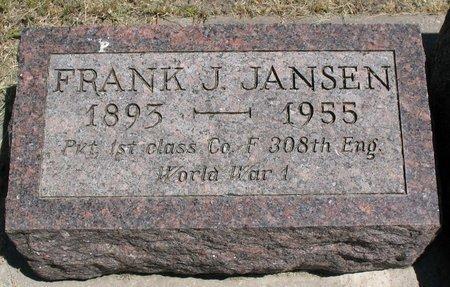 JANSEN, FRANK JULIUS - Beadle County, South Dakota | FRANK JULIUS JANSEN - South Dakota Gravestone Photos