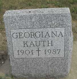 KAUTH, GEORGIANA - Beadle County, South Dakota   GEORGIANA KAUTH - South Dakota Gravestone Photos
