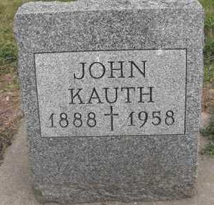 KAUTH, JOHN - Beadle County, South Dakota   JOHN KAUTH - South Dakota Gravestone Photos