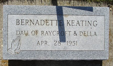 KEATING, BERNADETTE - Beadle County, South Dakota | BERNADETTE KEATING - South Dakota Gravestone Photos