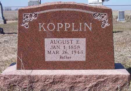 KOPPLIN, AUIGUST E - Beadle County, South Dakota   AUIGUST E KOPPLIN - South Dakota Gravestone Photos