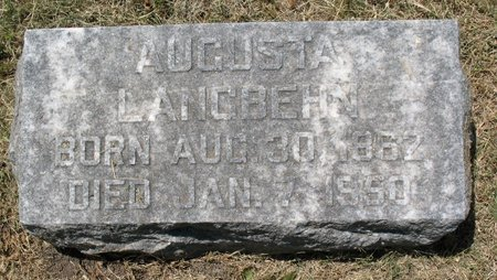 JANSEN LANGBEHN, AUGUSTA - Beadle County, South Dakota | AUGUSTA JANSEN LANGBEHN - South Dakota Gravestone Photos