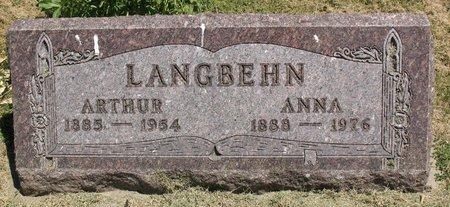 LANGBEHN, ARTHUR - Beadle County, South Dakota | ARTHUR LANGBEHN - South Dakota Gravestone Photos