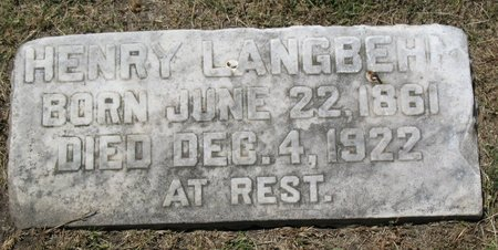"LANGBEHN, HENRY ""HANK"" - Beadle County, South Dakota 