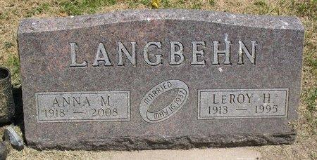 LANGBEHN, LEROY HOWARD - Beadle County, South Dakota | LEROY HOWARD LANGBEHN - South Dakota Gravestone Photos