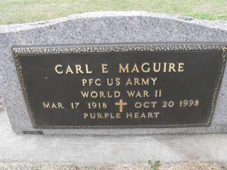 MAGUIRE, CARL E. (WW II) - Beadle County, South Dakota | CARL E. (WW II) MAGUIRE - South Dakota Gravestone Photos