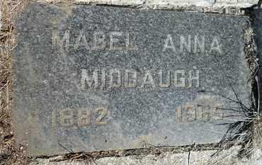 MIDDAUGH, MABEL ANNA - Beadle County, South Dakota   MABEL ANNA MIDDAUGH - South Dakota Gravestone Photos