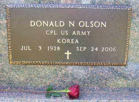 OLSON, DONALD N. (KOREAN CONFLICT) - Beadle County, South Dakota | DONALD N. (KOREAN CONFLICT) OLSON - South Dakota Gravestone Photos