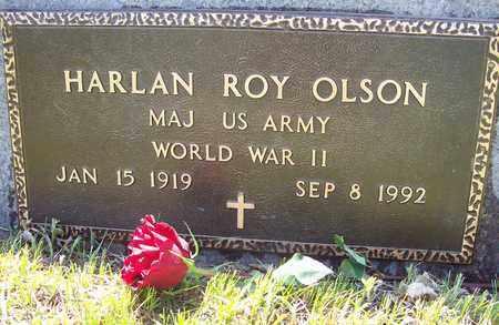 OLSON, HARLAN ROY (WW II) - Beadle County, South Dakota   HARLAN ROY (WW II) OLSON - South Dakota Gravestone Photos