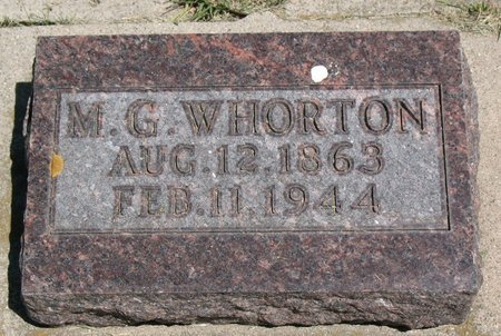WHORTON, M. G. - Beadle County, South Dakota | M. G. WHORTON - South Dakota Gravestone Photos