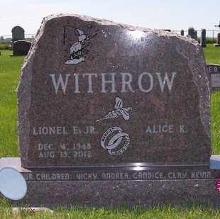WITHROW, LIONEL E JR - Beadle County, South Dakota   LIONEL E JR WITHROW - South Dakota Gravestone Photos