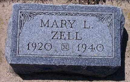 ZELL, MARY L - Beadle County, South Dakota | MARY L ZELL - South Dakota Gravestone Photos