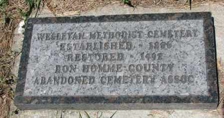 *ABANDONED CEMETERY, NOTES - Bon Homme County, South Dakota | NOTES *ABANDONED CEMETERY - South Dakota Gravestone Photos