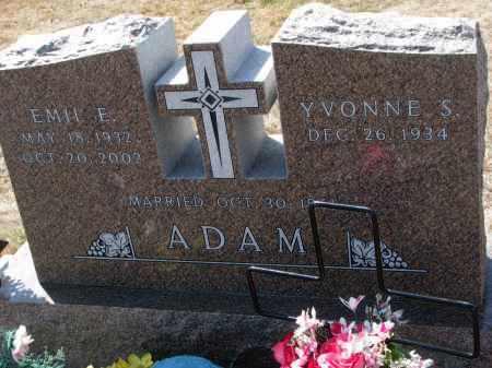ADAM, YVONNE S. - Bon Homme County, South Dakota | YVONNE S. ADAM - South Dakota Gravestone Photos