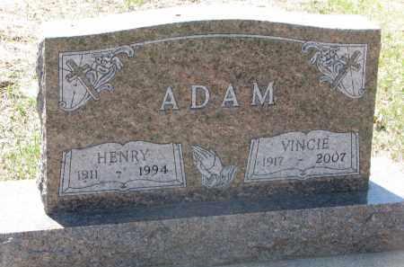 ADAM, VINCIE - Bon Homme County, South Dakota | VINCIE ADAM - South Dakota Gravestone Photos