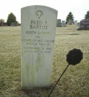 BARTOS, FRED - Bon Homme County, South Dakota | FRED BARTOS - South Dakota Gravestone Photos