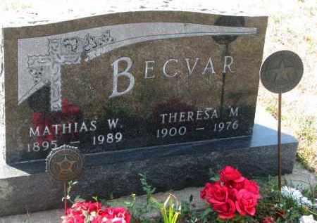 BECVAR, MATHIAS W. - Bon Homme County, South Dakota   MATHIAS W. BECVAR - South Dakota Gravestone Photos