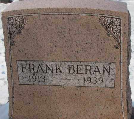BERAN, FRANK - Bon Homme County, South Dakota | FRANK BERAN - South Dakota Gravestone Photos