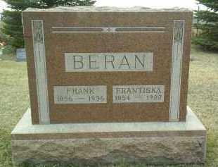 BERAN, FRANTISKA - Bon Homme County, South Dakota | FRANTISKA BERAN - South Dakota Gravestone Photos