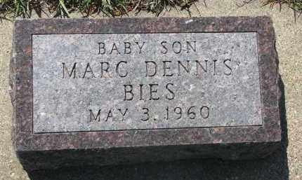 BIES, MARC DENNIS - Bon Homme County, South Dakota | MARC DENNIS BIES - South Dakota Gravestone Photos