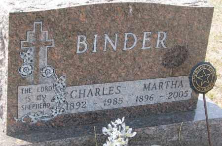 BINDER, MARTHA - Bon Homme County, South Dakota | MARTHA BINDER - South Dakota Gravestone Photos