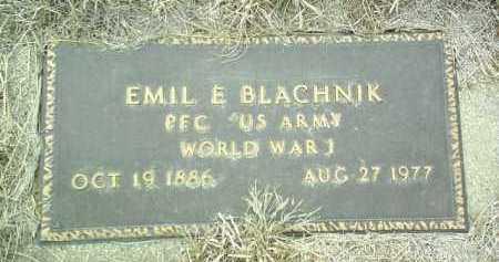BLACHNIK, EMIL - Bon Homme County, South Dakota | EMIL BLACHNIK - South Dakota Gravestone Photos