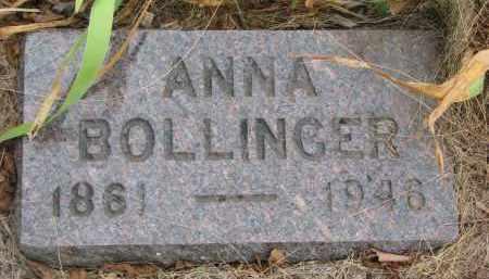 BOLLINGER, ANNA - Bon Homme County, South Dakota | ANNA BOLLINGER - South Dakota Gravestone Photos