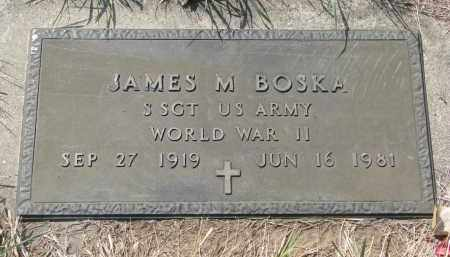 BOSKA, JAMES M. (WW II) - Bon Homme County, South Dakota   JAMES M. (WW II) BOSKA - South Dakota Gravestone Photos