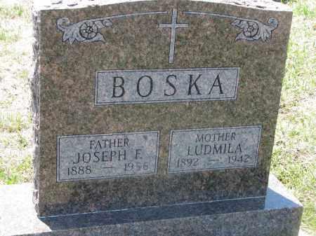 BOSKA, LUDMILA - Bon Homme County, South Dakota | LUDMILA BOSKA - South Dakota Gravestone Photos