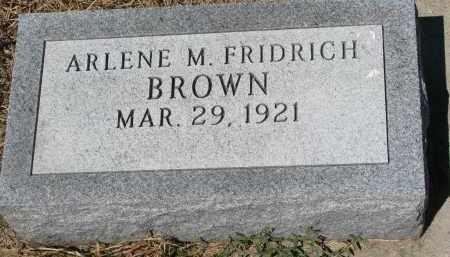 BROWN, ARLENE M. - Bon Homme County, South Dakota | ARLENE M. BROWN - South Dakota Gravestone Photos