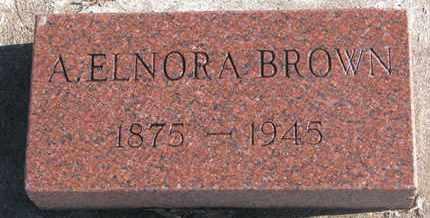 BROWN, A. ELNORA - Bon Homme County, South Dakota | A. ELNORA BROWN - South Dakota Gravestone Photos