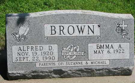 BROWN, EMMA A. - Bon Homme County, South Dakota | EMMA A. BROWN - South Dakota Gravestone Photos