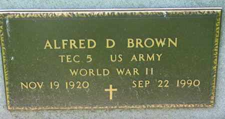 BROWN, ALFRED D. (MILITARY) - Bon Homme County, South Dakota | ALFRED D. (MILITARY) BROWN - South Dakota Gravestone Photos